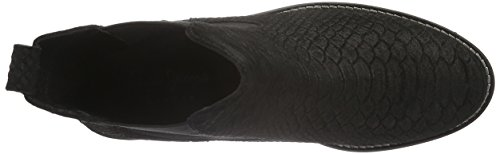 Pepe Jeans Damen Seymour Snake Chelsea Boots Schwarz (Black 999)