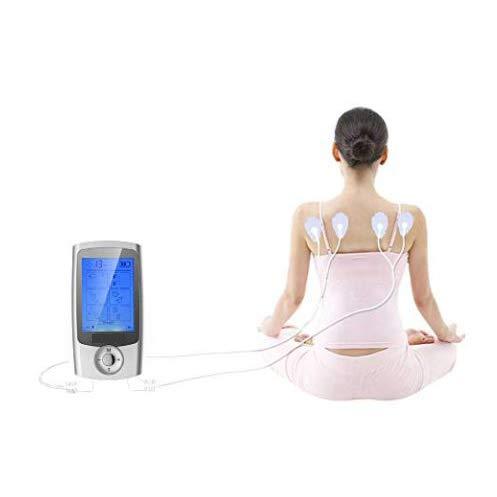 Cleared Muscle Pain Tens Unit, wiederaufladbare 16 Modi und 12 Pads Muskelstimulator, Elektrisches EMS-Therapiemassagegerät zur Linderung von Schmerzen am Rückenschulterellbogen für Vatertagsgeschenke 16 Output Fuse