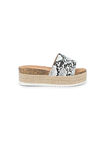 Animal-print-plattform (Sandalen Plattform Damen Sommer Animal Print)