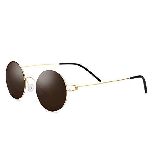 Yuany Schraubenlose Titan-Retro-Sonnenbrille für Herren und Damen Ultraleichte Sonnenbrille Drive HD Nylon-Gläser Outdoor Sports Driving Fishing