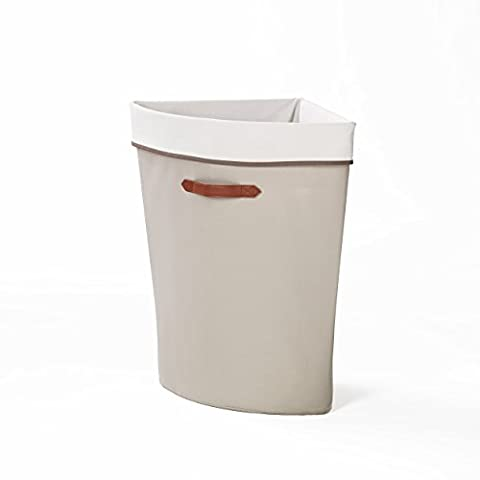 neatfreak Polyester Greystone Collection Panier à linge d'angle, gris