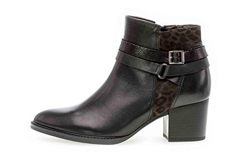 Gabor Rodeen Womens Ankle Boots 9 UK/ 43 EU Schwarz/Leopard -