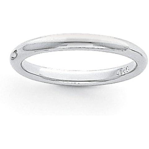 Icecarats Designer Di Gioielli Dimensione 8 3 Millimetri Di Platino Comodità Semicircolare Fit Banda Leggero - 8 Millimetri Platinum Wedding Band