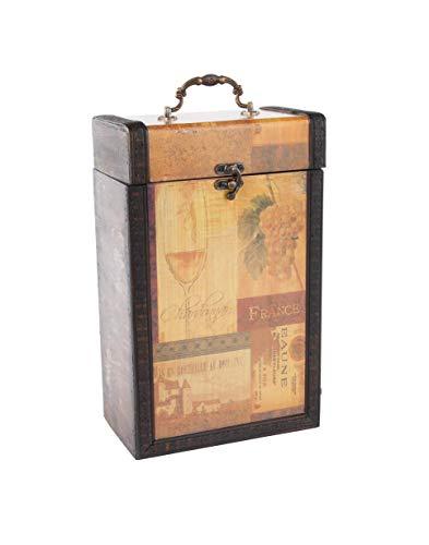 MYBOXES Geschenkverpackung 2 Weinflaschen Größe 19,5x11,8x31,3cm