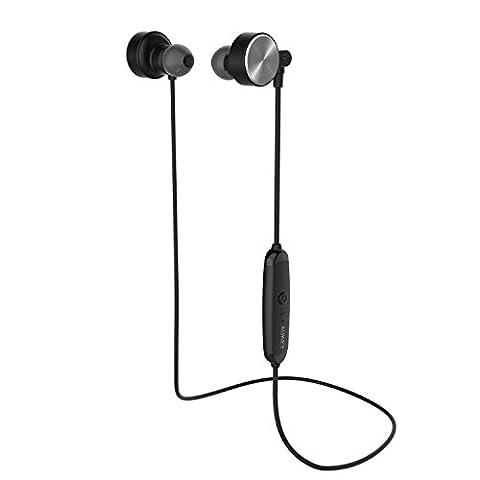 AUKEY Kopfhörer Bluetooth 4.1 In Ear magnetische Headset Sport Ohrhörer Wireless Stereo Earphone mit Mikrofon für iPhone 6S 6 Plus Samsung HTC Sony und andere Smartphones