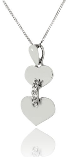 Carissima Gold - Femme - Collier avec pendentif coeur Or Blanc