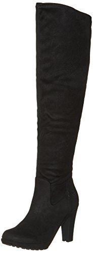 bugatti Damen 411354316900 Stiefeletten, Schwarz (Schwarz 1000), 38 EU (Stiefel Hohe Overknee)