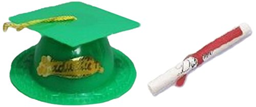 ion Cap Cake Topper with Diploma, Green ()
