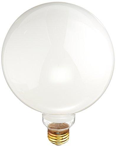 Bulbrite 861099 Dimmbare Glühbirne in G40-Form (E26) Sockel mit mittlerer Schraube, 100 W, Weiß, 12 Stück - Globus Mittlere Schraube
