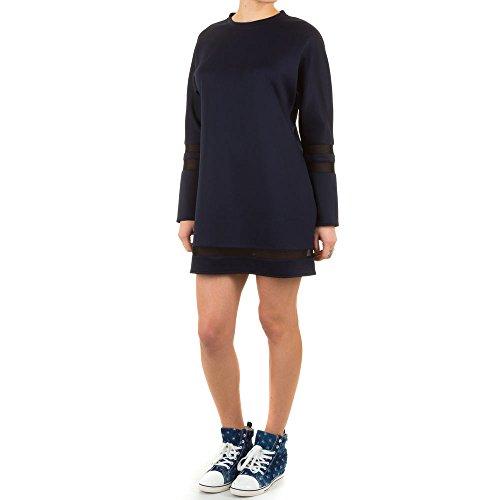 Damen Kleid, PARTY TUNIKA MINI KLEID, KL-51605 Blau