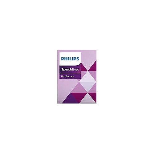 Philips PSE4400 SpeechExec Pro Dictate 10 Diktiersoftware (mit integrierter, professioneller Dragon...