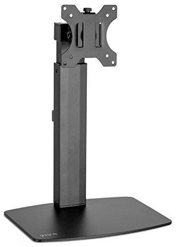 Vivo schwarz universal freistehend Single Monitor Halterung Schreibtisch Ständer | Spannfeder höhenverstellbar Monitor Arm für Bildschirme bis 81,3cm (stand-v001V)