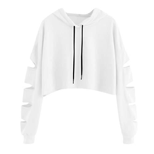 CICIYONER Tops für Frauen, Mode Beiläufig Damen Lange Ärmel Sweatshirt Jumper zur Seite Fahren Solide Bluse