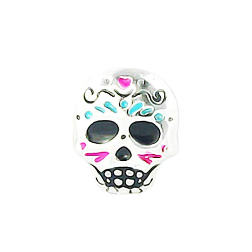 AKKi jewelry Element für Medaillon Kette,Petite Charms Elemente Pandora Style kompatibel Locket Memories Damen Schmuck Set Angebot Totenkopf