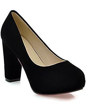 WYWQ Le scarpe alti delle signore tacchi alti scrigano la testa rotonda impermeabile la piattaforma bassa della...