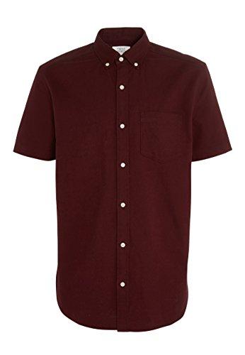 next Herren Kurzärmeliges Oxford-Hemd Burgund XXXXL (Kurzarm-oxford-hemd Baumwolle)