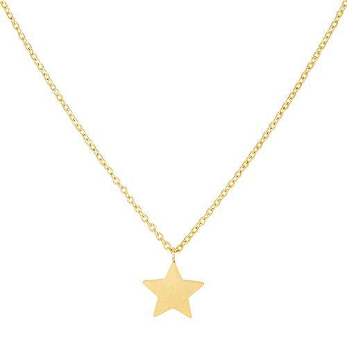 Schöne Kette mit besonderem Stern Anhänger in Gold oder Silber für Damen | Mit liebevoller Karte...