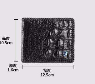 lpkone-Sac à main porte-monnaie tissé motif crocodile croix hommes portefeuilles pour hommes sac à main carte individuelle Brown