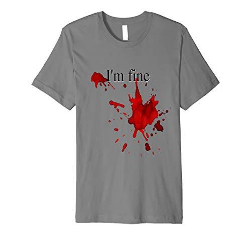 Funny Blood Splatter Halloween-Shirt im feinen Bloody ()