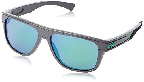 Oakley Herren Breadbox Sonnenbrille, Grau (Matte Dark Grey/Jade Iridium), 56