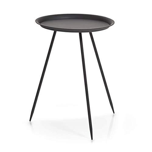 Zeller 17005 Tisch, Metall, schwarz, ca. 39 x 39 x 53,5 cm