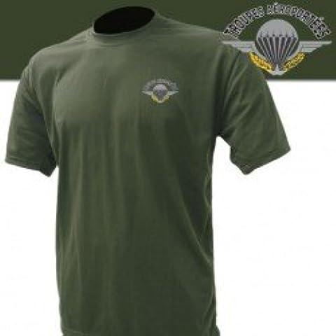 Tee Shirt Militar tropa aéroportées Caqui, extra-large