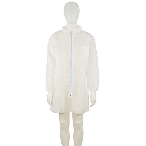 3M™ Visitors Coat, White, 4400-W-XL