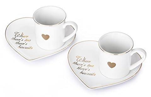 Assiette en forme de cœur et Mug Set de