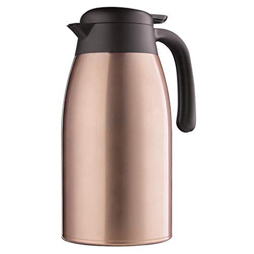 HPSD Thermos 2.5L vakuumisolierte Krug-Doppelwand-Edelstahl-thermische Karaffe für Tee, Kaffee, heiße u (Farbe : A) - Kaffee-tee-thermische Karaffe