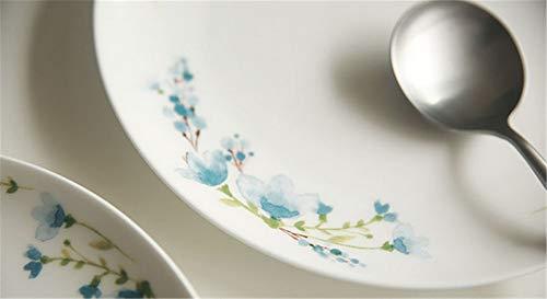 TIANCHAGN8 Inch Blu Floreale Pastorale Bone China Piatti Decorativi ...