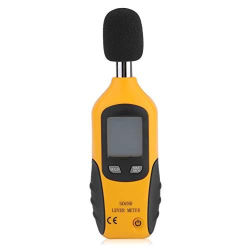 CHOULI Ht-80A Noise Tester 30-130Db Sound Level Decibel Monitoring Tester Meter Yellow&Black (Monitoring Sound)