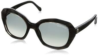 Roberto Cavalli Women's Rc797s Black / Dark Brown Frame/Gradient Smoke Lens Plastic Sunglasses