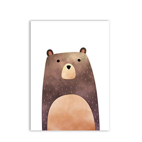 HD 1 Stücke Drucke Poster Leinwand Wohnkultur Malerei Wandkunst Modulare Bild Für Kinderzimmer Wasserdicht Geschenk Niedlicher Bärendruck-60x80cm no Frame
