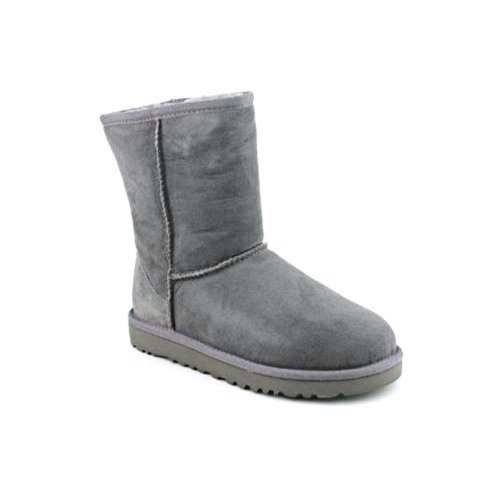 UGG Australia Kurze Lammfell Stiefel Größe: 1 Farbe: grau