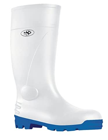 Botte de securite agroalimentaire Soul Rebel Pyrénées S5 blanche semelle bleue - made in France - Pointure 38