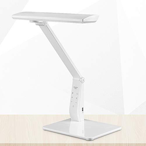 SKSNB LED Schreibtischlampe 8W Augenschutz Leselampe 4 Modi einstellbar High-End-Business-Arbeitstischlampe Lernlampe (Perlweiß)