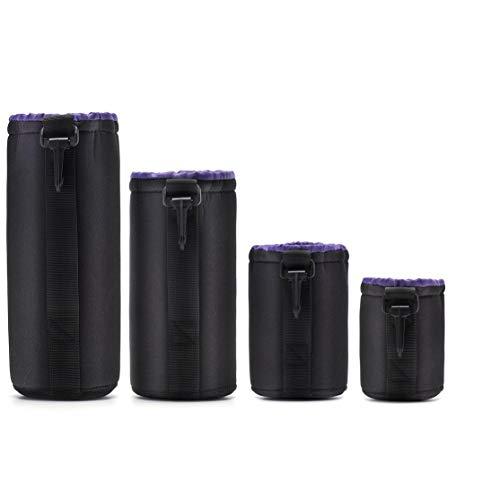 LouiseEvel215 Neopren DSLR Camera Lens Pouch Schutz Tasche Case Set (4er Pack) von Altura Photo Panasonic Belt Clip