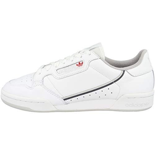 adidas Herren Continental 80 Sneaker, Weiß FTWR White Five/Grey One F17, 44 2/3 EU