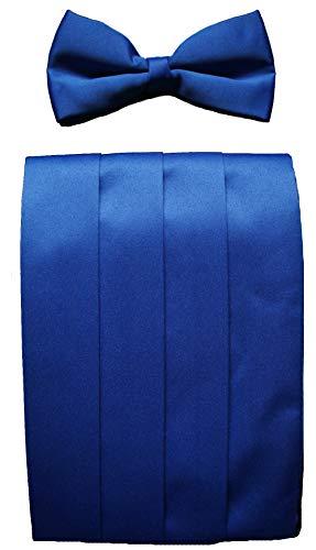 Clermont Direct Ensemble ceinture et nœud papillon Bleu royal