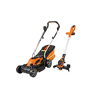 Yard Force 32cm Rotary Cordless Lawnmower and Grass Trimmer Twin Pack with Lithium-Ion 40V Battery