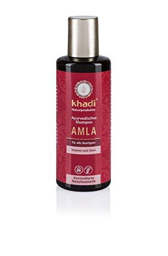 Khadi Ayurvedisches Shampoo Amla 210ml I natürliches Haar-Shampoo für jedes Haar I vegane Haar-Reinigung zur täglichen Haar-Wäsche I spendet Feuchtigkeit und baut die Haarstruktur auf I Naturkosmetik ohne künstliche Zusätze
