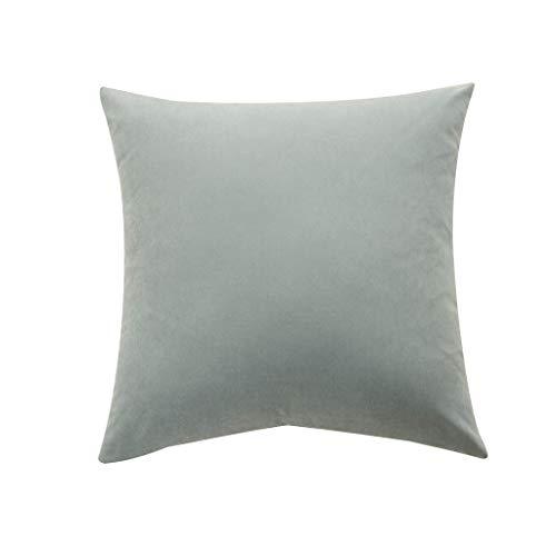 Precioul Soft Solid Dekorative Quadrat Wurf Kissenbezüge Set Kissen Fall für Sofa SchlafzimmerMikrofaser Volltonfarbe Kissenbezug Kissenbezug -