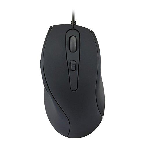 Speedlink USB Maus lautlos - Axon leise 5 Tasten Computermaus (ohne Klickgeräusche, antibakterielle Beschichtung - bis zu 2400 DPI - optischer Sensor) für PC / Computer wired Mouse rot