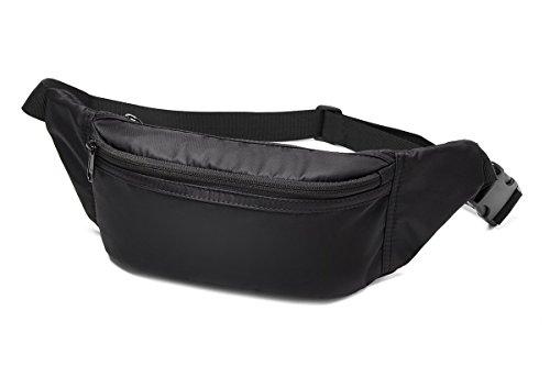 WindTook Riñonera Interior Discreta Bolsa del Cinturón Cinturón para dinero Cinturón Deportivo Multifuncional Ideal para Viajes (Negro)