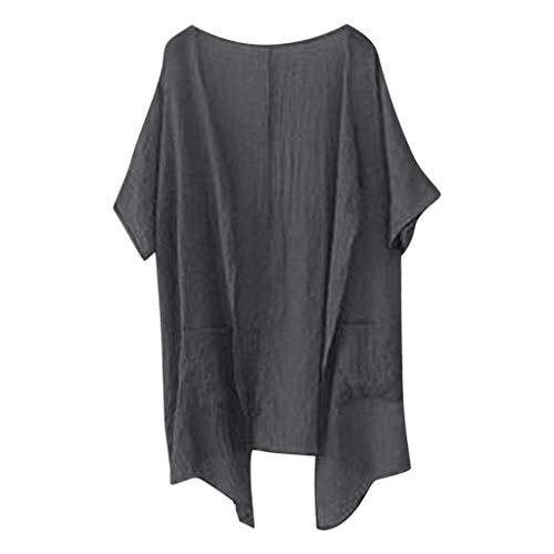 Kneris Donna Spiaggia Estate Kimono Cardigan Casual Sciolto Bikini Cover Up Aperto T-Shirt a Tunica