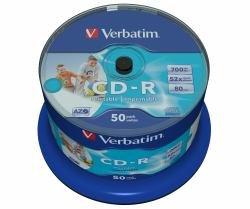 Verbatim CD-R 700MB Super AZO WIDE-Printable, 100er-Spindel