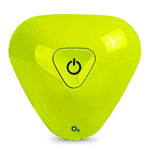 Purificador de aire esterilización desodorizante en forma de triángulo ambientador con carga USB desodorante electrónico impermeable potente para el hogar, refrigerador, zapatero, clóset, coche, verde