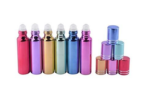 DDOQ Creative - Botella de perfume de cristal portátil con dispensador de aceite esencial, 10 ml, 6 unidades