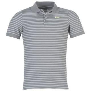 Nike Herren Polo Shirt N.E.T. Stripe Pique, cool Grey/Liquid Lime, S, 447001-065 (Shirt Nike-pique Polo)