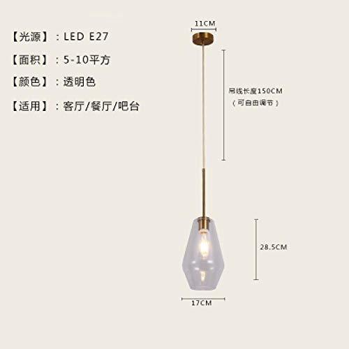 Postmoderne kronleuchter hängelampe persönlichkeit restaurant hause einfache bar café lampe mode kreative schlafzimmer studie glas lampen klares licht trompete -